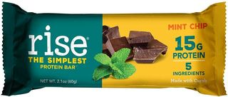 Rise protein bar mint chip flavor