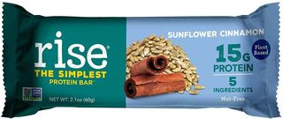 Rise protein bar sunflower cinnamon flavor