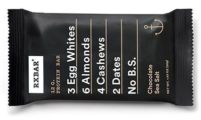 RxBar protein bar chocolate sea salt flavor
