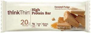 ThinkThin protein bar caramel fudge flavor