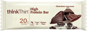 ThinkThin protein bar chocolate expresso flavor