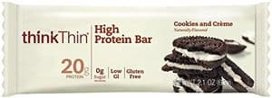 ThinkThin protein bar cookies cream flavor