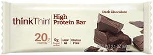 ThinkThin protein bar dark chocolate flavor