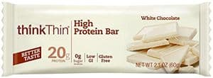 ThinkThin protein bar white chocolate flavor
