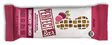 Perfect Bar cranberry crunch flavor