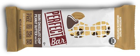 Perfect Bar dark chocolate peanut butter sea salt flavor