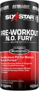 Six Star Pre Workout N.O. Fury